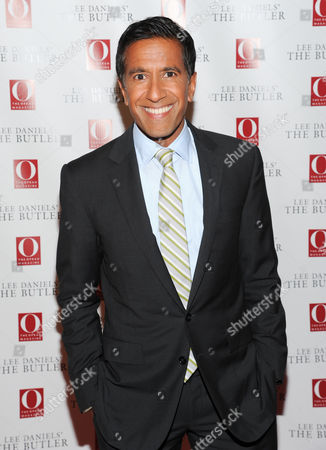 """Dr. Sanjay Gupta attends a special screening of """"Lee Daniels' The Butler"""" hosted by O, The Oprah Magazine at Hearst Tower on in New York"""
