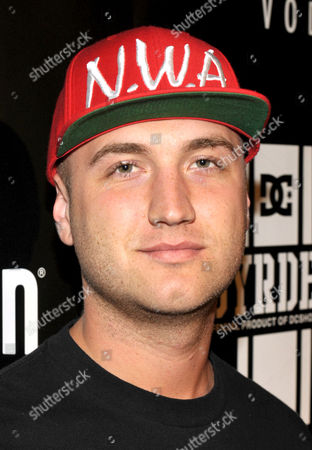 """Stock Image of Nick Hogan arrives at PacSun and DC Shoes """"Golden State of Mind"""" event held at Rob Dyrdek's Fantasy Factory on in Los Angeles"""