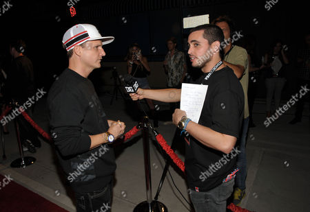 "Rob Dyrdek, left, arrives at PacSun and DC Shoes ""Golden State of Mind"" event held at Fantasy Factory on in Los Angeles"