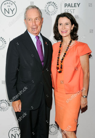 """New York Mayor Michael Bloomberg and Commissioner of The New York City Mayor's Office of Film, Theatre and Broadcasting, Katherine Oliver, attend PaleyFest: Made In NY - """"Orange Is The New Black"""" panel discussion at The Paley Center for Media on in New York"""