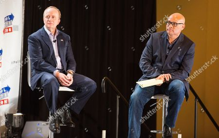 Paul Begala and Larry Wilmore seen at Politicon 2016 at The Pasadena Convention Center, in Pasadena, CA
