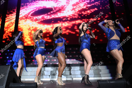 Stock Picture of Ally Brooke Hernandez, Normani Kordei, Lauren Jauregui, Camila Cabello and Dinah Jane Hansen with Fifth Harmony performs during the Power 96.1 Jingle Ball at Philips Arena, in Atlanta