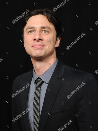 """Stock Picture of Actor Zack Braff attends the premiere for """"Les Miserables"""" at the Ziegfeld Theatre on in New York"""