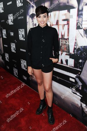 "Actress Raychel Diane Weiner arrives at theLos Angeles Premiere Of ""Live from New York!"" held at The Landmark Theatre, in Los Angeles"