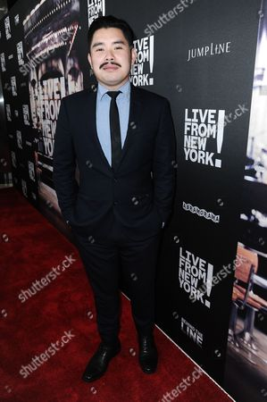 "Director Bao Nguyen arrives at theLos Angeles Premiere Of ""Live from New York!"" held at The Landmark Theatre, in Los Angeles"