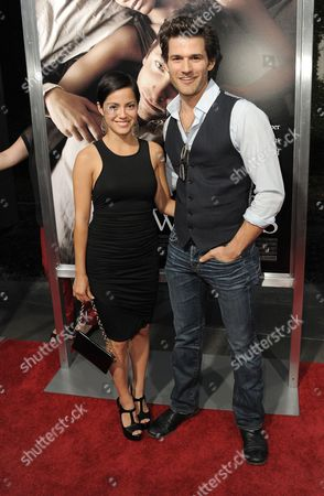 "Stock Picture of Sylvia Brindis, left, and Johnny Whitworth attend the premiere of ""The Words"" at ArcLight Cinemas, in Los Angeles"