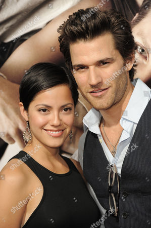 "Sylvia Brindis, left, and Johnny Whitworth attend the premiere of ""The Words"" at ArcLight Cinemas, in Los Angeles"