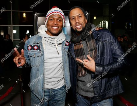"""Sheldon Candis and Affion Crockett attend the premiere of """"A Haunted House"""" at the Arclight Hollywood, in Los Angeles"""