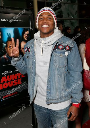 """Sheldon Candis attends the premiere of """"A Haunted House"""" at the Arclight Hollywood, in Los Angeles"""