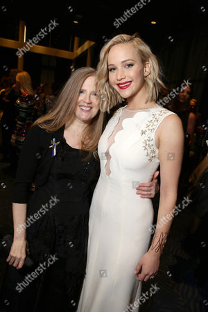Exclusive - Author Suzanne Collins and Jennifer Lawrence seen at Los Angeles Premiere of Lionsgate's 'The Hunger Games: Mockingjay - Part 2', in Los Angeles, CA