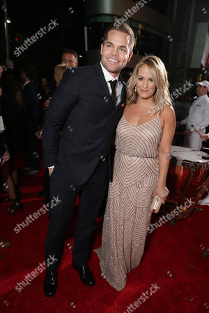 Stock Image of Wes Chatham and Jenn Brown seen at Los Angeles Premiere of Lionsgate's 'The Hunger Games: Mockingjay - Part 2', in Los Angeles, CA