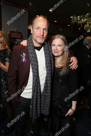 Exclusive - Woody Harrelson and author Suzanne Collins seen at Los Angeles Premiere of Lionsgate's 'The Hunger Games: Mockingjay - Part 2', in Los Angeles, CA