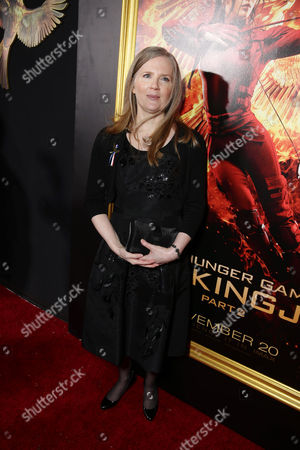 Author Suzanne Collins seen at Los Angeles Premiere of Lionsgate's 'The Hunger Games: Mockingjay - Part 2', in Los Angeles, CA
