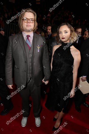 Elden Henson and Kira Sternbach seen at Los Angeles Premiere of Lionsgate's 'The Hunger Games: Mockingjay - Part 2', in Los Angeles, CA