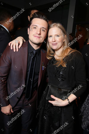Exclusive - Josh Hutcherson and author Suzanne Collins seen at Los Angeles Premiere of Lionsgate's 'The Hunger Games: Mockingjay - Part 2', in Los Angeles, CA