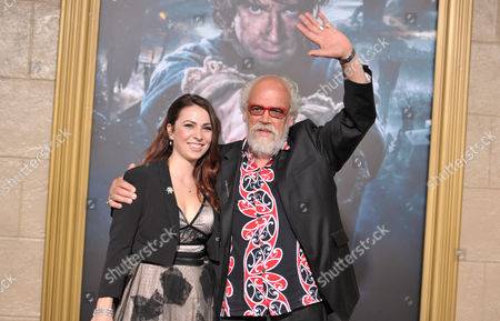 Georgia Allen, left, and John Callen arrive at the Los Angeles premiere of The Hobbit: The Battle Of The Five Armies at the Dolby Theatre on