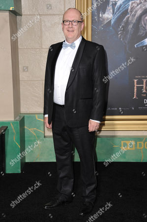 Peter Hambleton arrives at the Los Angeles premiere of The Hobbit: The Battle Of The Five Armies at the Dolby Theatre on