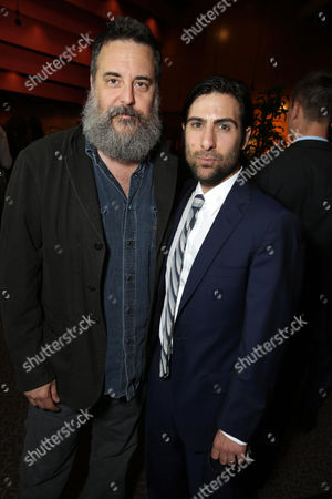 Stock Photo of Mark Romanek and Jason Schwartzman seen at the Los Angeles Premiere of Tribeca Film's PALO ALTO, sponsored by Farfetch on in Los Angeles