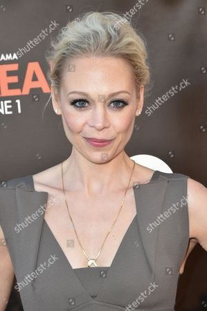 Stock Image of Alexandra Holden arrives at Lifetime's scripted series premiere of UnREAL at SIXTY Beverly Hills, in Beverly Hills, Calif