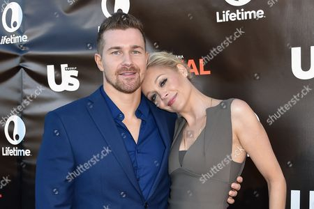 Stock Picture of Josh Kelly, left and Alexandra Holden arrive at Lifetime's scripted series premiere of UnREAL at SIXTY Beverly Hills, in Beverly Hills, Calif