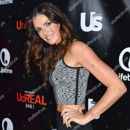 Courtney Robertson arrives at Lifetime scripted series premiere of UnREAL at SIXTY Beverly Hills, in Beverly Hills, Calif