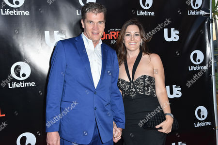 Clark Peterson, left, and Stacy Rukeyser arrive at Lifetime's scripted series premiere of UnREAL at SIXTY Beverly Hills, in Beverly Hills, Calif