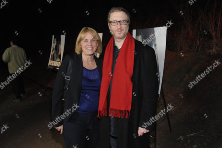 "Stock Image of James Gray, left, and executive producer Sarah Condon arrive at the premiere screening of SundanceTV's ""The Red Road"", on in Los Angeles"