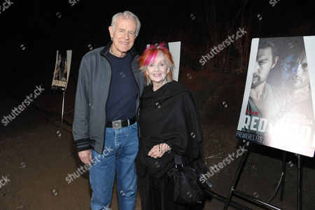"""Mike Farrell, left, and Shelley Fabares arrive at the premiere screening of SundanceTV's """"The Red Road"""", on in Los Angeles"""