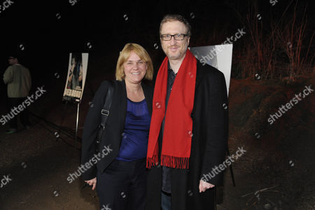 """Executive producer Sarah Condon, left, and James Gray arrive at the premiere screening of SundanceTV's """"The Red Road"""", on in Los Angeles"""