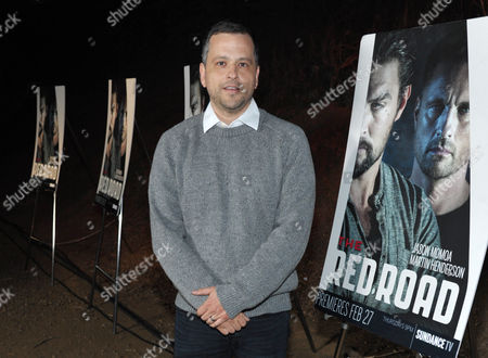 "Creator/writer/co-executive producer Aaron Guzikowski arrives at the premiere screening of SundanceTV's ""The Red Road"", on in Los Angeles"
