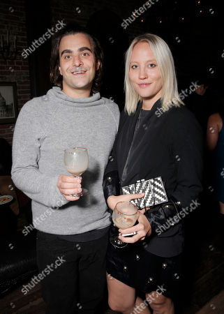 """Stock Image of Nick Jarecki and guest attend the after party for Roadside Attractions' Los Angeles Premiere of """"Thanks for Sharing"""" at the ArcLight Cinerama Dome on in Los Angeles"""