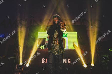 Casey Veggies performs at Samsung Exclusive Concert Curated by Roc Nation on in Los Angeles, Calif