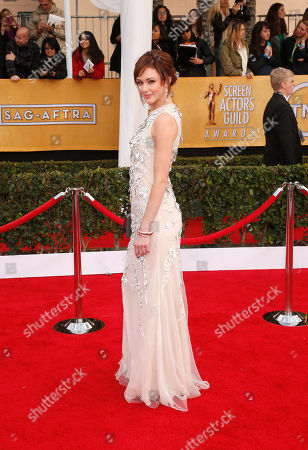 Meg Chambers Steedle arrives at the 19th Annual Screen Actors Guild Awards at the Shrine Auditorium in Los Angeles on