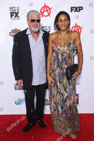 "From left, actor Ron Perlman and daughter Blake Perlman arrive at the season 6 premiere screening of ""Sons of Anarchy"" at the Dolby Theatre on in Los Angeles"
