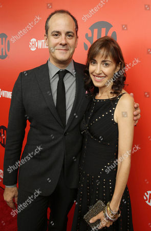 President of Entertainment at Showtime Networks, David Nevins and wife Andrea Nevins seen at Showtime's 2013 'Emmy Eve Soirre' on Saturday, Sept, 21, 2013 in Los Angeles