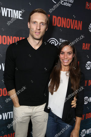 Teddy Sears and Milissa Sears pictured at SHOWTIME and Time Warner Cable Ray Donovan Season 2 premiere on Wednesday, July 9 at Nobu in Malibu, Calif