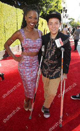 Shanola Hampton and Ethan Cutkosky seen at Showtime's Annual Summer Soiree at 2014 TCA at the Pacific Design Center, in Los Angeles