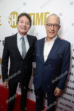 Episodes' Executive Producers Jeffrey Klarik and David Crane seen at Showtime's Emmy Eve 2015 at Sunset Tower Hotel, in Los Angeles, CA