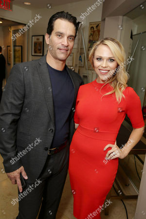 Exclusive - Johnathon Schaech and Julie Solomon seen at Showtime's Emmy Eve 2015 at Sunset Tower Hotel, in Los Angeles, CA