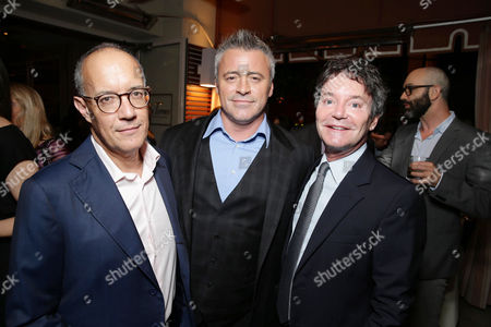 Exclusive - 'Episodes' Executive Producer David Crane, Matt LeBlanc and 'Episodes' Executive Producer Jeffrey Klarik seen at Showtime's Emmy Eve 2015 at Sunset Tower Hotel, in Los Angeles, CA