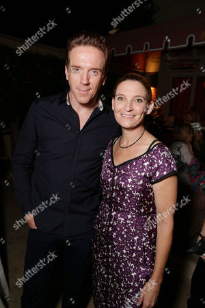 Stock Picture of Exclusive - Damian Lewis and Meredith Stiehm seen at Showtime's Emmy Eve 2015 at Sunset Tower Hotel, in Los Angeles, CA