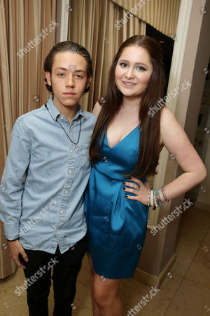 Exclusive - Ethan Cutkosky and Emma Kenney seen at Showtime's Emmy Eve 2015 at Sunset Tower Hotel, in Los Angeles, CA