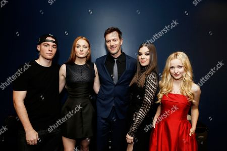 Gabriel Basso, Sophie Turner, Director Kyle Newman, Hailee Steinfeld and Dove Cameron seen at a Special Screening of 'Barely Lethal', in Los Angeles, CA