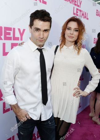 Stock Photo of Sam Witwer and Chloe Dykstra seen at a Special Screening of 'Barely Lethal', in Los Angeles, CA