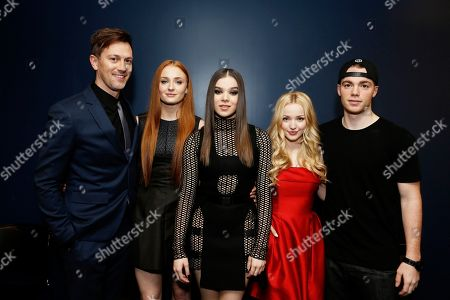 Director Kyle Newman, Sophie Turner, Hailee Steinfeld, Dove Cameron and Gabriel Basso seen at a Special Screening of 'Barely Lethal', in Los Angeles, CA