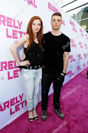 Annalise Basso and Gabriel Basso seen at a Special Screening of 'Barely Lethal', in Los Angeles, CA