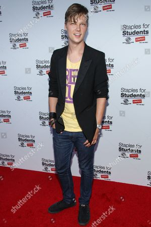 Actor Austin Anderson attends the Staples for Students Give-Back at the Saddle Ranch Chop House on in Universal City, Calif