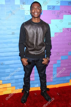Stock Picture of Actor Harrison Knight attends the Staples for Students Give-Back at the Saddle Ranch Chop House on in Universal City, Calif