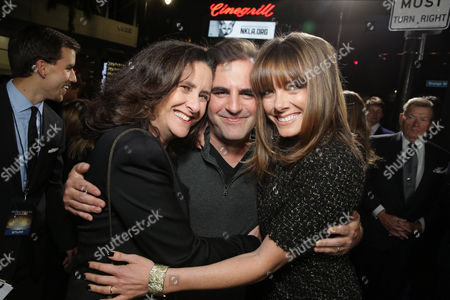 Producer Gigi Pritzker, Producer Bob Orci and Producer Linda McDonough seen at Summit Entertainment's Los Angeles Premiere of 'Ender's Game', on Monday, Oct, 28, 2013 in Los Angeles