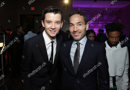 Asa Butterfield and Composer Steve Jablonsky seen at Summit Entertainment's Los Angeles Premiere of 'Ender's Game', on Monday, Oct, 28, 2013 in Los Angeles